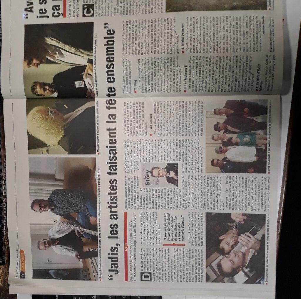 Article Dernière Heure, Jean-Marc Ghéraille,  La Story, tome 2, Brice Depasse, janvier 2021
