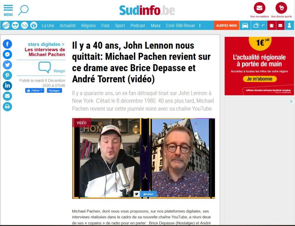 SUD PRESSE, avec Michael Pachen et André Torrent, 40 ans disparition John Lennon