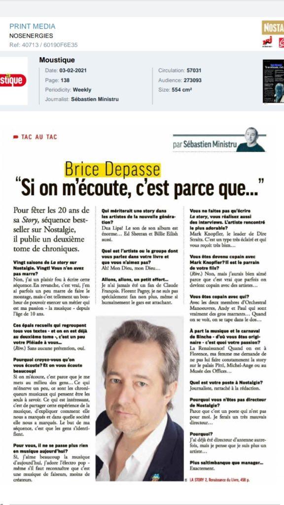 Tac au Tac de Sébastien Ministru dans le Moustique