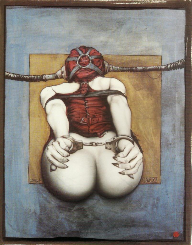 DavidP.-Slave XII-Technique mixte sur toile-100X80-2009