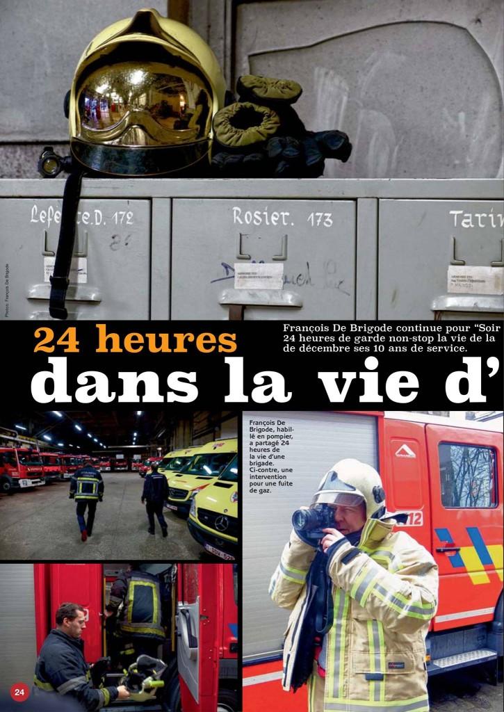24 heures dans la vie d'une caserne, reportage de  Francois de Brigode dans le Soir Mag