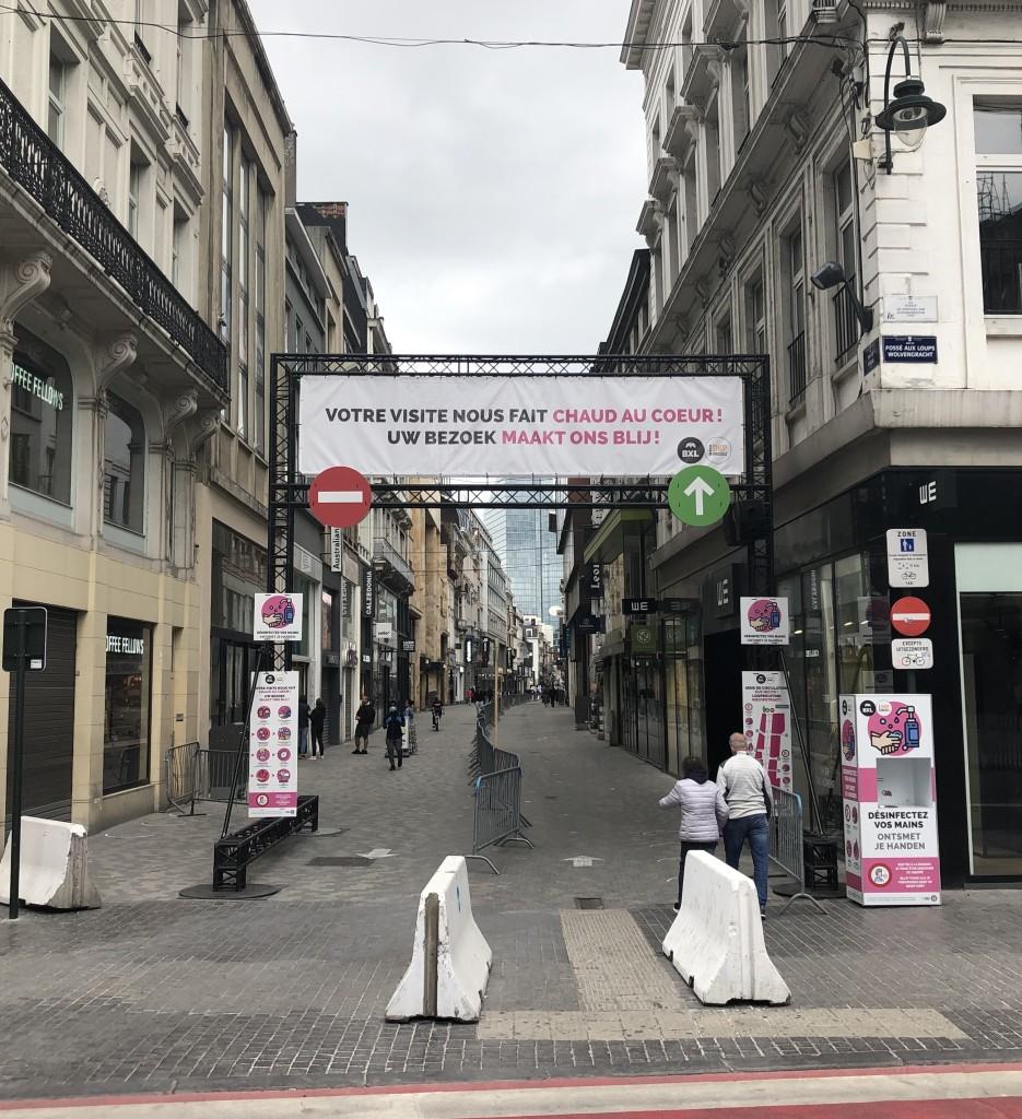 Jour 72: Rue Neuve à BXL fin d'après midi ! Le déconfinement et le vide !
