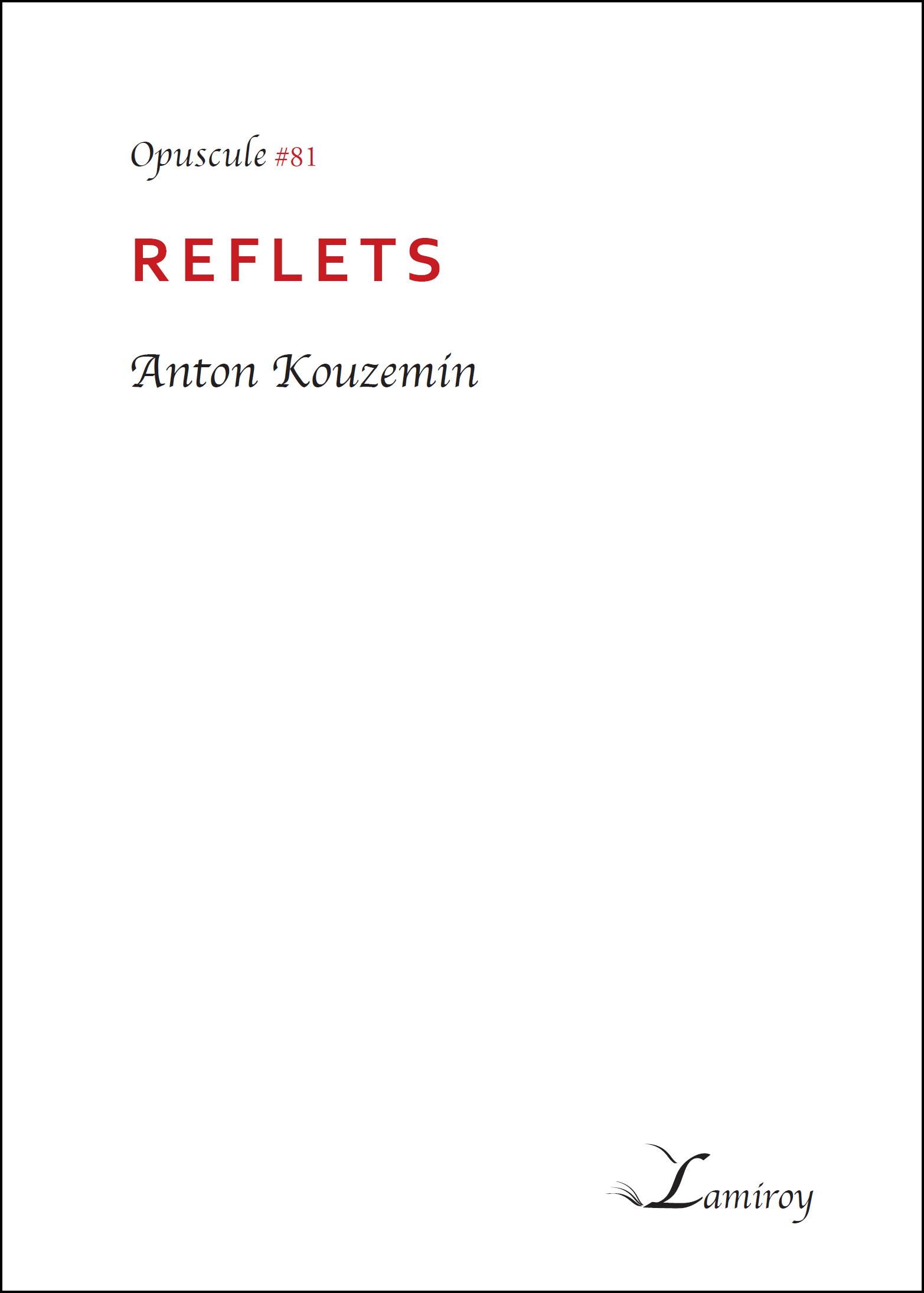 Anton Kouzemin Reflets bord noir
