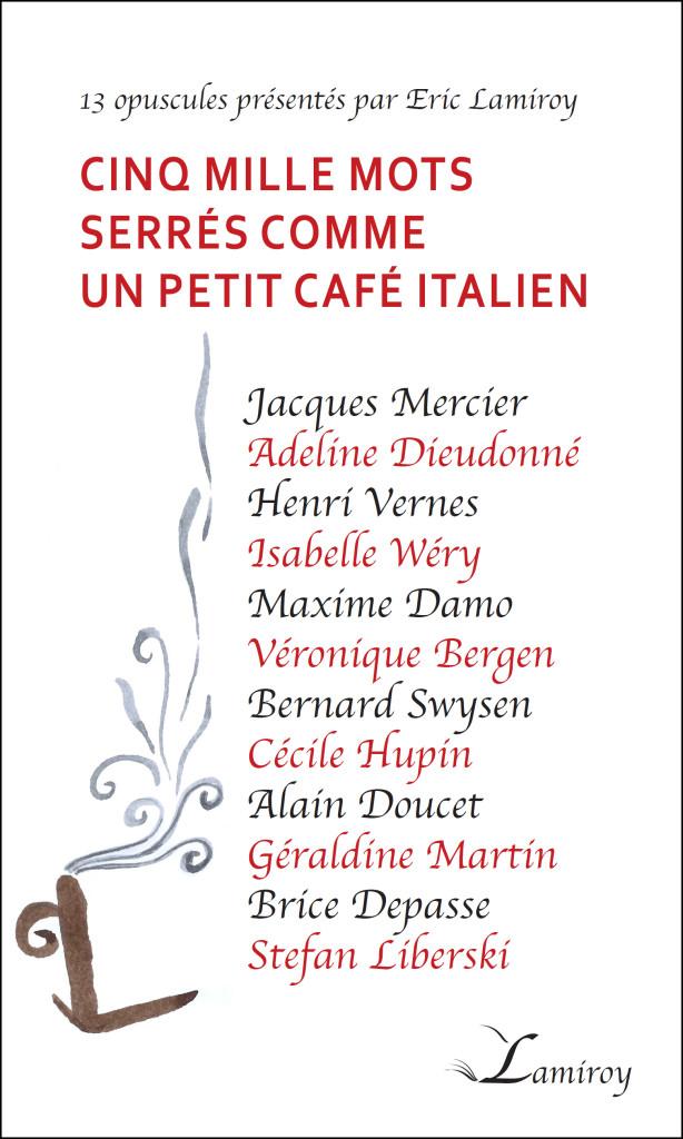 Cinq mille mots serrés comme un petit café italien HD bord noir