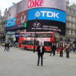 Piccadilly Circus, 2012, Tournage de Sur les Traces de Freddie Mercury