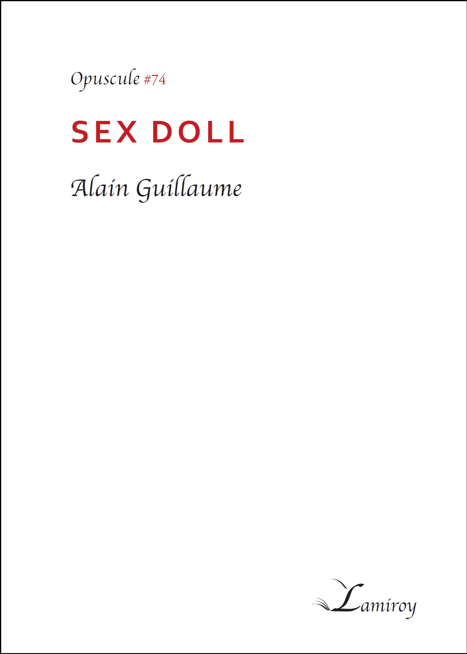 Alain Guillaume Sex Doll HD bord noir