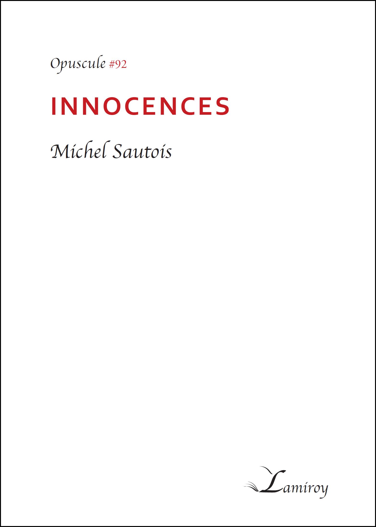 Michel Sautois Innocences HD bord noir
