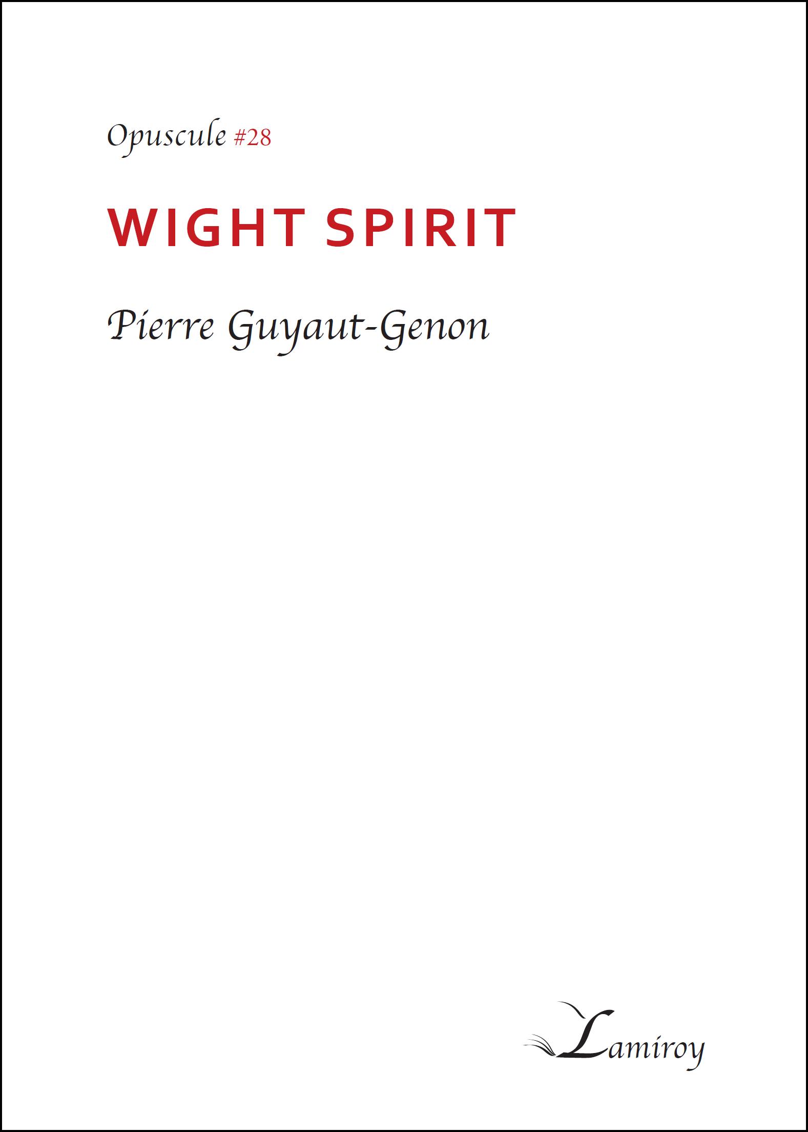 Pierre Guyaut Wight Spirit HD bord noir